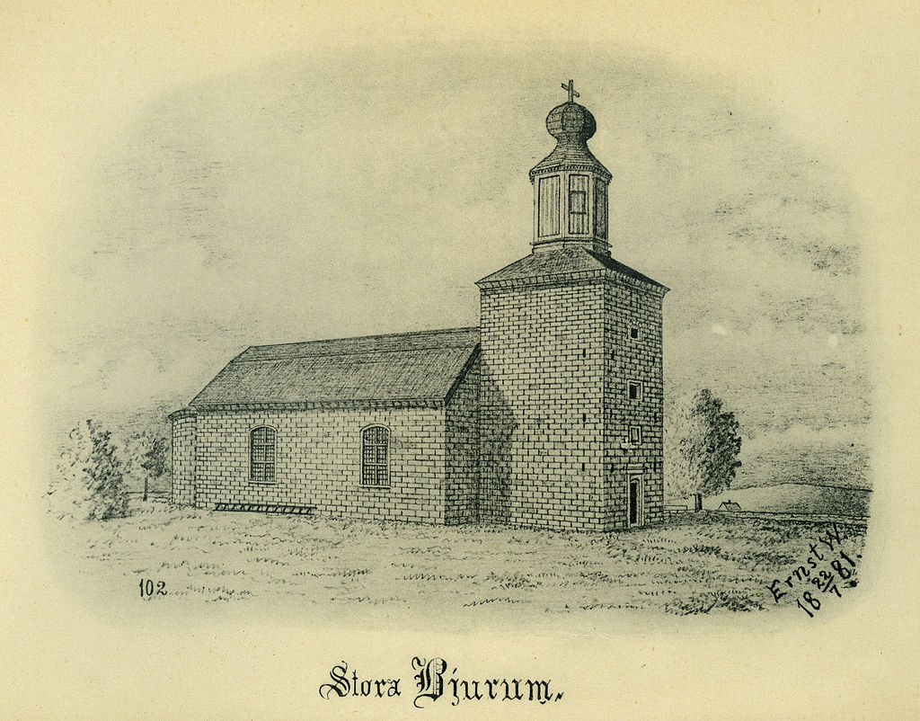 Bjurums_kyrka_1881_(Ernst_Wennerblad_1902)