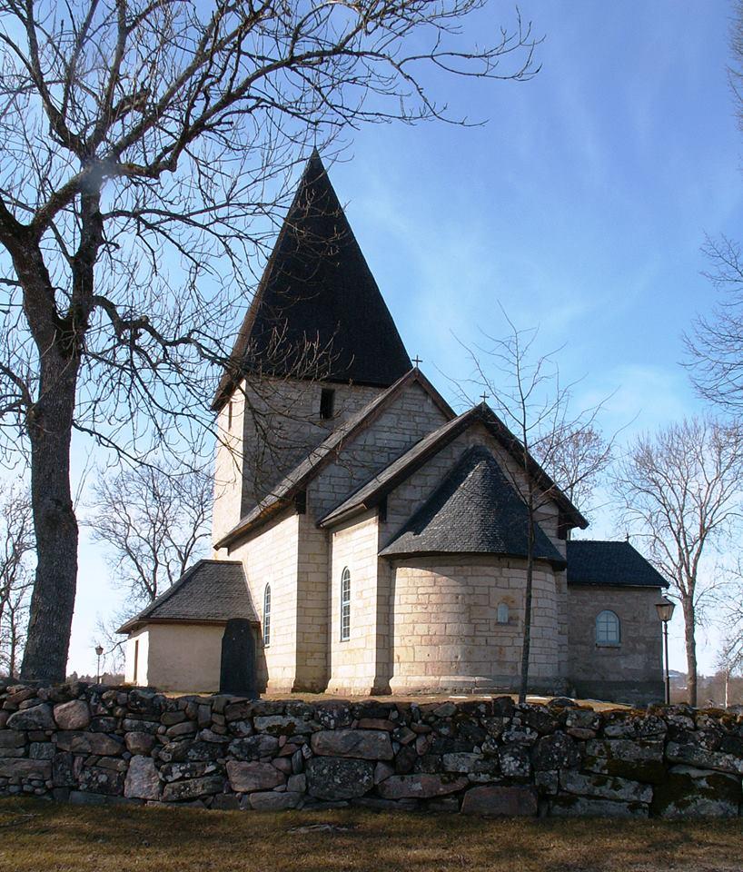 Kinne Vedums kyrka nära Kinnekulle Foto Hans Menzing