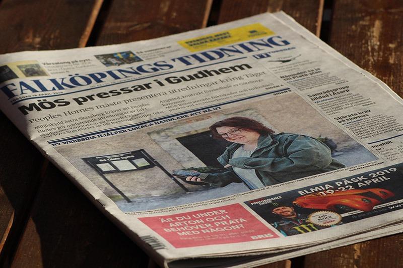 Första sidan i Falköpings Tidning